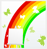 Vector clipart: Rainbow on an easel