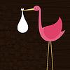 Векторный клипарт: Stork