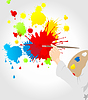 Vector clipart: artist has drawn blots