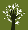 Vector clipart: Hand tree