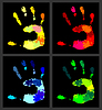 Vector clipart: Print of hands