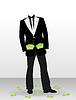 Vector clipart: Businessman without head
