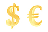 Vector clipart: Dollar and euro