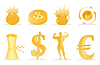 Vector clipart: Gold icons