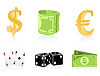Vector clipart: Icons of money