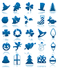 Vector clipart: Celebratory icons