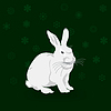 Vector clipart: Christmas rabbit