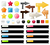 Vector clipart: Collection of buttons