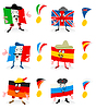 Vector clipart: Flags and medals