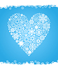 Vector clipart: Snow heart