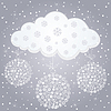 Vector clipart: Winter cloud