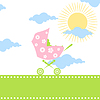 Vector clipart: Carriage for children