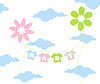 Vector clipart: Children flower