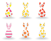 Vector clipart: Easter hares