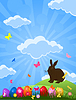 Vector clipart: Easter rabbit