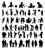 Vector clipart: Family silhouettes
