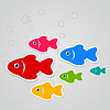 Vector clipart: Flight of fishes