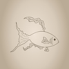 Vector clipart: Gold small fish