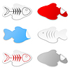 Vector clipart: Icon of fish