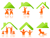 Vector clipart: Icons - family