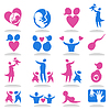 Vector clipart: Icons family