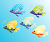 Vector clipart: Magic fishes