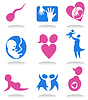Vector clipart: Pregnancy icons