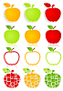 Vector clipart: Apple icons