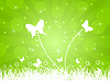 Vector clipart: Background of butterflies