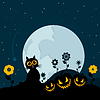 Vector clipart: Cat on Halloween