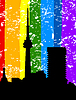 Vector clipart: City rainbow