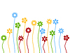 Vector clipart: Flower background