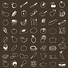 Vector clipart: Food icons