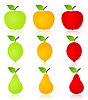 Vector clipart: Fruit icons