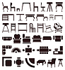 Vector clipart: Furniture icons