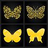 Vector clipart: Gold butterfly