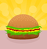 Vector clipart: Hamburger