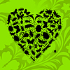 Vector clipart: Heart of insects