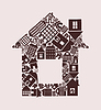 Vector clipart: House of houses
