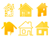 House icons | Stock Vector Graphics