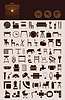 Vector clipart: Household icons