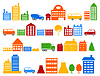 Vector clipart: House icons