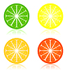 Vector clipart: Icon citrus