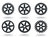 Vector clipart: Icons gear wheel