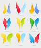 Vector clipart: Icons of butterflies