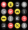 Vector clipart: Industrial buttons