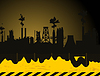 Vector clipart: Industrial city