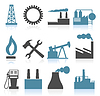 Vector clipart: Industrial icons