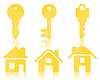 Vector clipart: Key and house