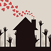 Vector clipart: Love house